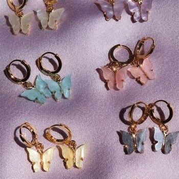 Flatfoosie New Fashion Women Butterfly Drop Earrings Animal Sweet Colorful Acrylic Earrings 2019 Statement Girls Party.jpg 350x350 - Women Butterfly Drop Earrings