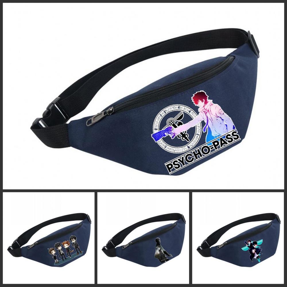 Unisex Fanny Pack Women Belt Waterproof Chest Handbag Waist Bag Ladies Waist Pack Belly Bags For PsychoPass