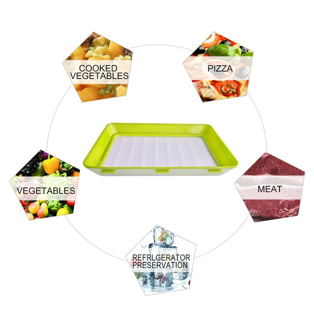 Image 5 - 6Pcs Creative Fresh Food Preservation tray Organizer Fresh Food Preservation Pallet Refrigerator Food Storage Container Kitchen-in Storage Trays from Home & Garden