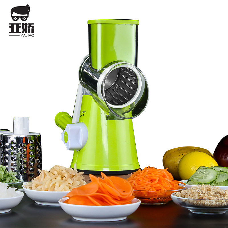 YAJIAO Kitchen Multifunctional Vegetable Cutter Slicer Food Processor For Potato Carrot Cheese Slicer Stainless Steel Blades