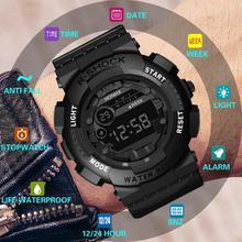 HONHX 2019 luksusowy mężczyzna cyfrowy zegarek led cyfrowy data Alarm wodoodporny Sport mężczyźni odkryty elektroniczny zegarek zegar Dropshipping Q tanie tanio Bowake 20cm Akrylowe Klamra 3Bar Cyfrowe Zegarki Na Rękę 43 5mm Silikon 14 5mm Auto data Chronograph Okrągły 16mm Relogio Clock reloj S7