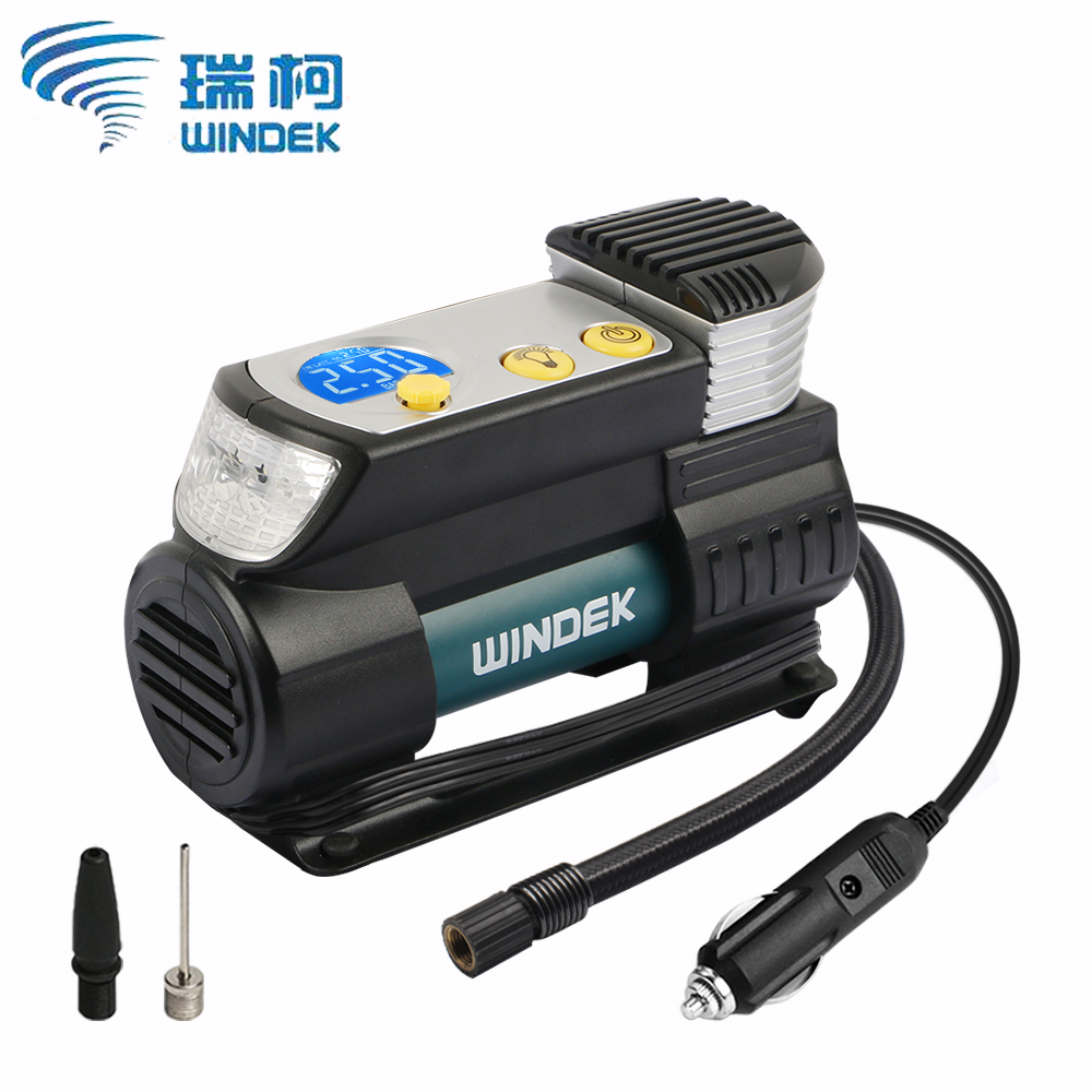 WINDEK Digital Car Tire Inflator Auto Compressor 12V Super Fast Tyre Pump Air Compressor For Car SUV Tires in Inflatable Pump from Automobiles Motorcycles