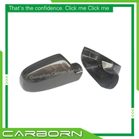 Carbon Fiber Mirror Cover For Audi A4 B8.5 A5 S5 RS5 without Turn Light Signal Add On Style Gloss Black