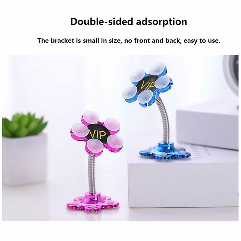 Rotatable Multi Angle Double Sided Phone Holder Suction Cup Stand Bracket VDX99