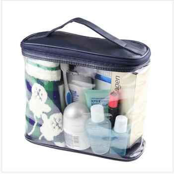 New Arrival Women Makeup Box Professional Portable Zipper Large Cosmetic Bag 4