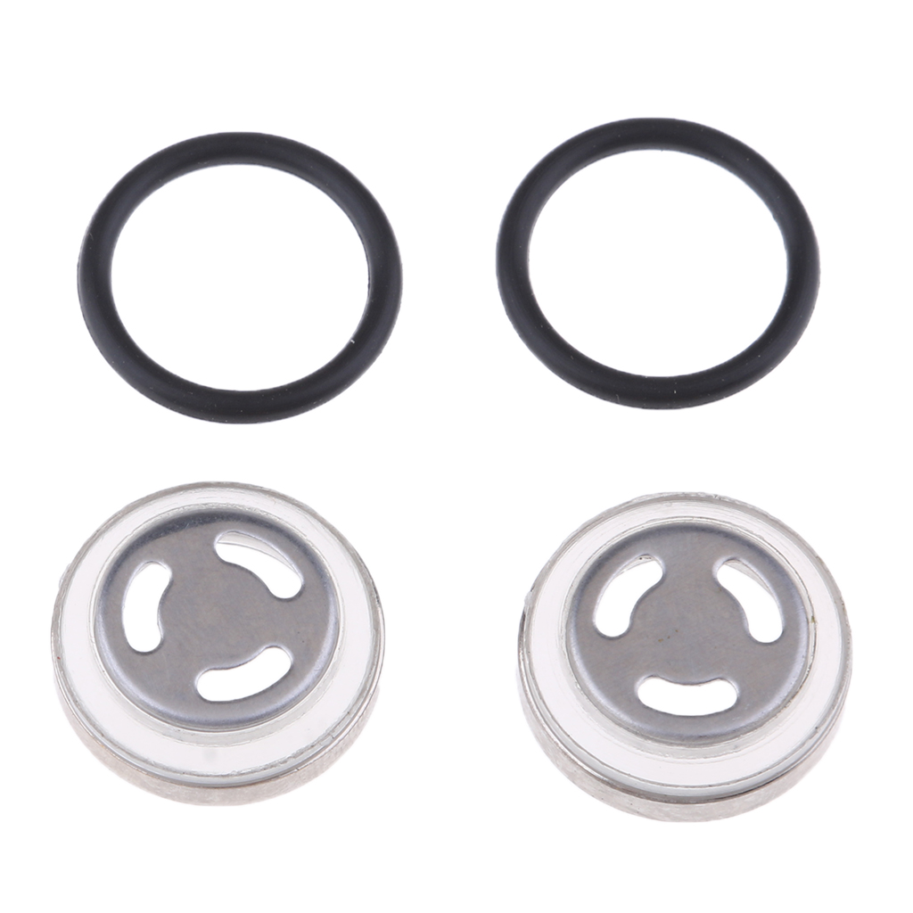 4 Pcs. Motorcycle Φ18mm Sight Glass Oil Sight Glass With Seal For Brake Pump Brake Cylinder