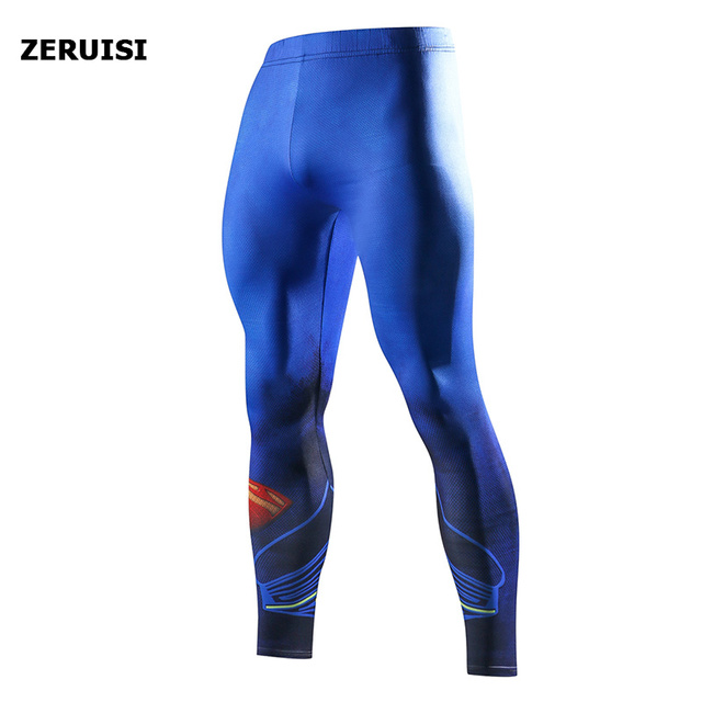 Superhero High Quality Men Skinny Pants 3D Pattern Superman Iron Man Pants Bodybuilding Jogger Fitness Skinny Leggings Trousers 4