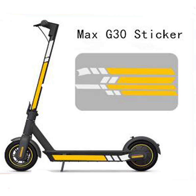 Front Rear Wheel Cover Sticker for Ninebot Max G30 Electric Scooter Sticker