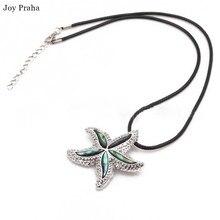 Fashion starfish necklace ornament / Beach abalone shell pendant