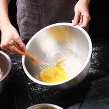 Mixing-Bowl Kitchen-Accessories Stainless-Steel Fruits Quart Baking-Cooking with Scale