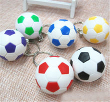 hot Fashion Sports Keychain Football Basketball Golf Ball Pendant Keyring For Favorite Sportsman's Gift Car Key Chain Key Ring(China)