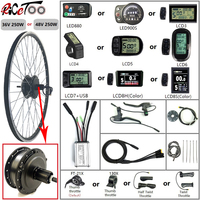 Electric Bicycle Conversion Kit 36/48V 250W Rear Cassette Motor Wheel with Optional 16 29 Inch 700C Rim Waterproof Ebike Parts