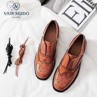 VAIR MUDO nouvelle mode printemps automne été femmes chaussures à talons bas en cuir véritable romantique à lacets décontracté unique chaussures D23L
