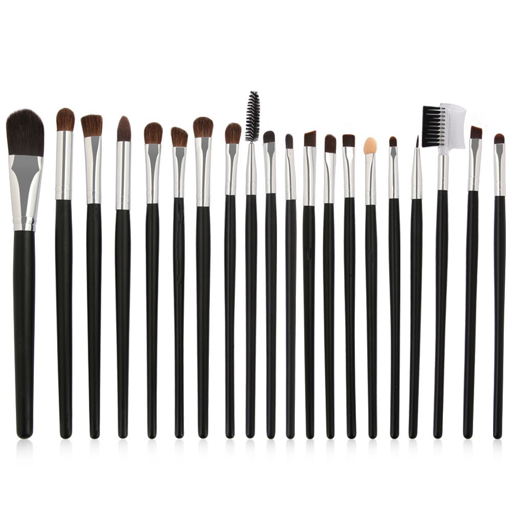 20Pcs Professional Eyelash Makeup Brushes Set Eye Shadow Brush Eyebrow Brush Foundation Mascara Brushes Cosmetic Tools Kits
