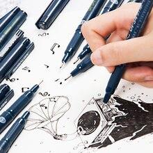 Водонепроницаемая черная Микронная ручка водостойкая для рисования