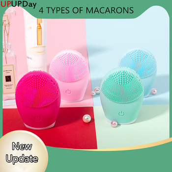 Facial Cleansing Brush Face Cleansing Brush Electric Facial Massager Silicone Brush Cleaner Sonic Vibration Deep Pore Cleaning