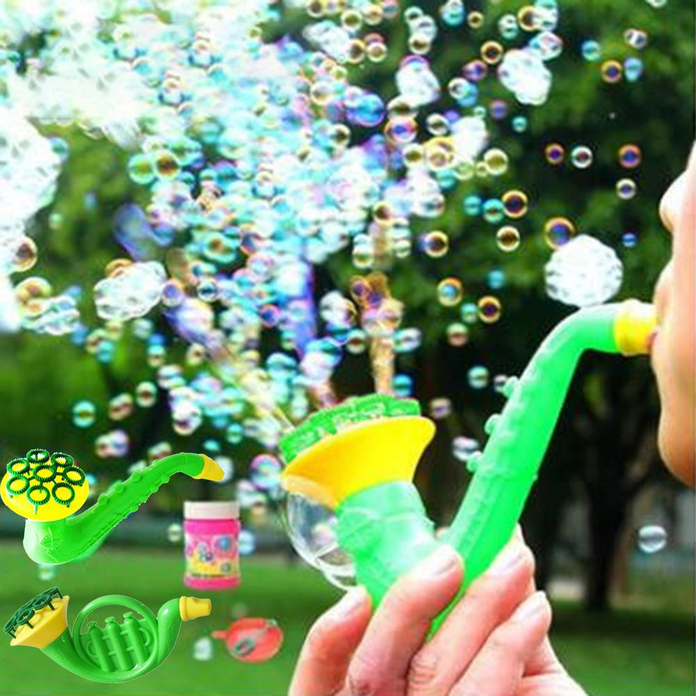 1 Pcs Random Water Blowing Toys Saxophone Shape Children Kids Outdoors Bubble Soap Bubble Maker Blower Machine Blowing Toy Gift