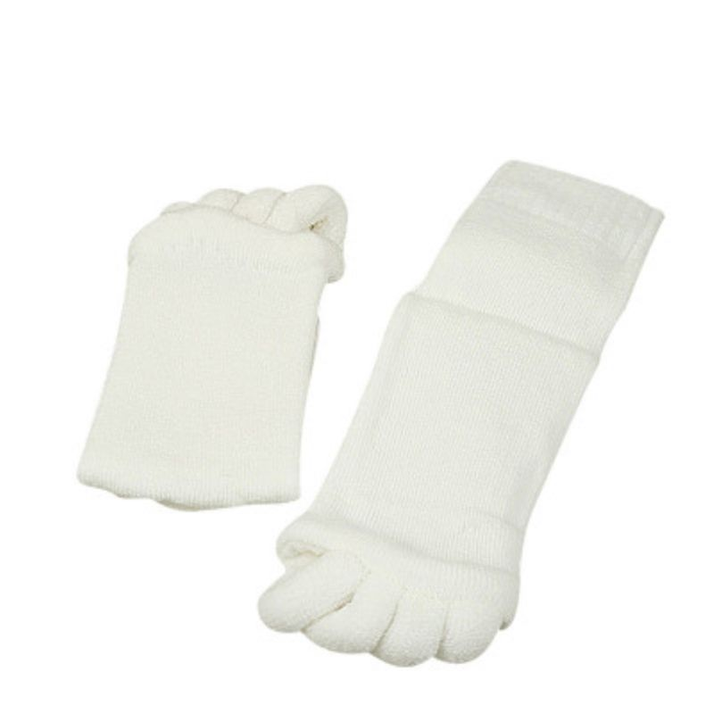 1 Pair Toe Socks Thick Five Fingers Separated Open Toes Toeless Hosiery For Hallux Valgus Footwear Health Foot Care*