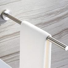 40cm Towel Racks Stainless Steel Dryer Bars Door Hanger Kitchen Durable Clip Bathroom Adhesive Holder