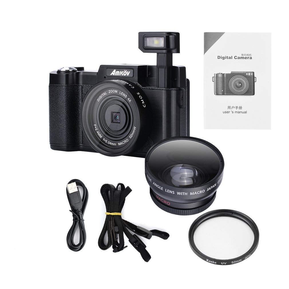 Original CDR2 24Mega pixel 1080P HD Mini Digital Camera 4Times Digital Zoom Camera with TFT Display Beauty Self timer Function image