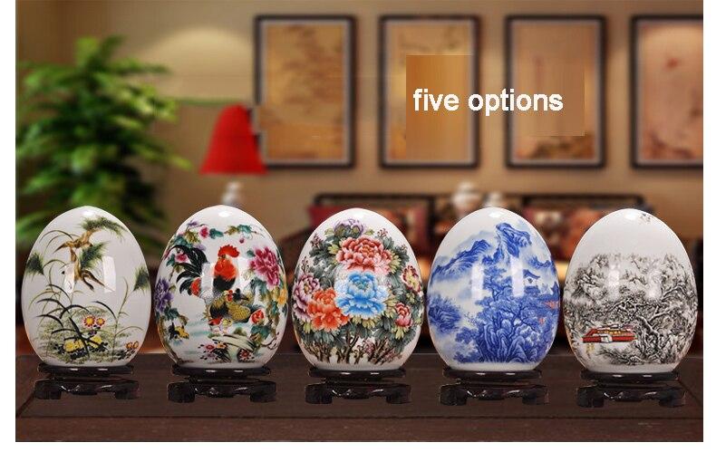 Antigo jingdezhen cerâmica vaso sorte ovo em