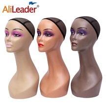 Alileader дешевый манекен головы без плечиков женский модельный