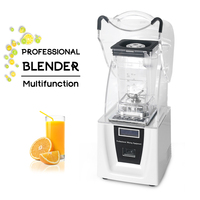 ITOP Commercial 1.5L Blender Mixers With Sound Cover Powerful Juicer Mixer Ice Crusher Smoothies Maker Blender Food Processors