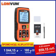LOMVUM-Medidor de distancia digital, 40m, cinta métrica medidora, regla láser, telémetro digital