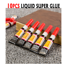 10pcs Liquid Super Glue Wood Rubber Metal Glass Cyanoacrylate Adhesive Stationery Store Nail Gel 502 Instant Strong Bond Leather