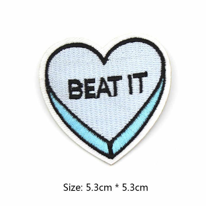 Go Away วลีภาษาอังกฤษ Back off เย็บปักถักร้อย patches เสื้อผ้าสำหรับเสื้อผ้ากระเป๋า DIY Badge กางเกงยีนส์สติกเกอร์ Applique ขายส่ง
