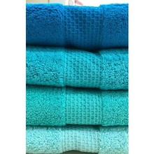 Anchor Home 50 X90 Turquoise 4'lü Cotton Rainbow Hand Face Towel