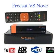 цена на GTMedia V8 Nova DVB-S2 Satellite Receiver Bulit in wifi Europe Spain 6lines From Freesat V8 Super TV Receptor same as freesat v9