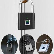 Door-Lock Fingerprint-Lock Usb-Charging Zinc Waterproof Anti-Theft Portable KERUI