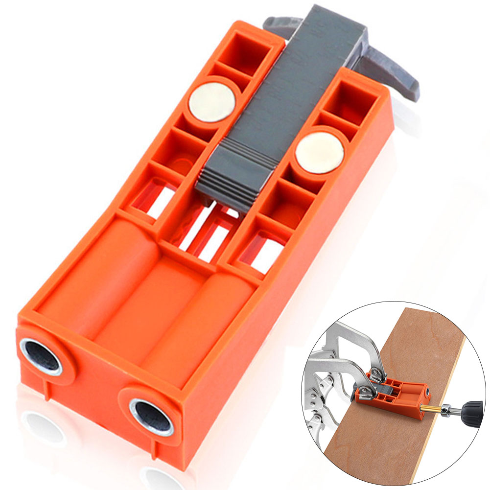 Carpentry Manual Pitch With Magnet Jig Hole Pocket Hole Puncher Positioning Template Small Tool Drill Bit Dowel 9.5mm Adjustable