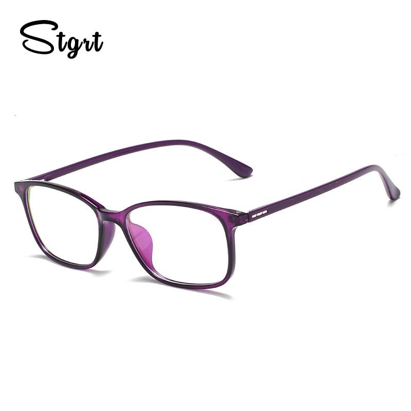 Stgrt  Prescription Glasses Anti-Blue-Ray Lenses Computer Goggles Women Myopia Photochromic Eyeglasses