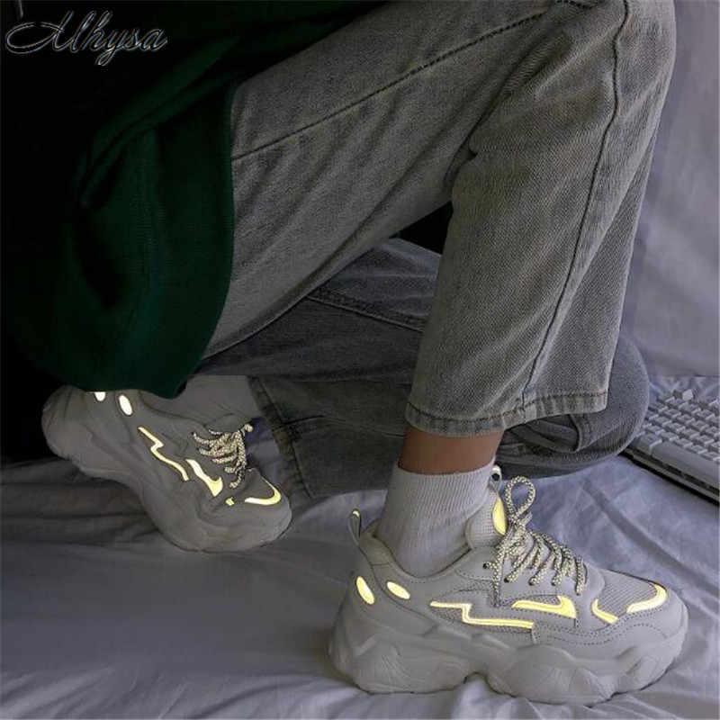 Mhysa 2019 Nuove Donne scarpe da ginnastica donne di Modo di Autunno casual da Donna Traspirante Scarpe Piattaforma Papà Scarpe Da Ginnastica zapatillas mujer