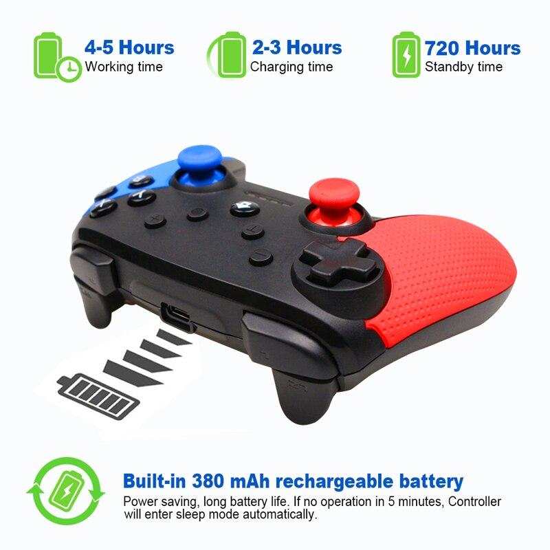 Image 4 - Senza Fili di Bluetooth Remote Controller Gamepad Per Nintend  Switch di Console Per Android Smarthone Per PC Controle Joystick-in  Gamepad da Elettronica di consumo su