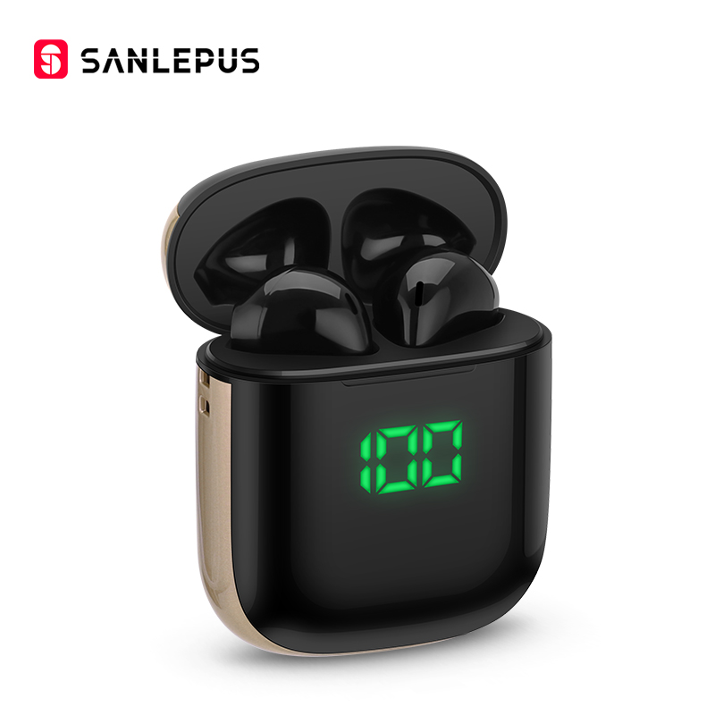 SANLEPUS TWS Wireless Headphones Bluetooth 5.0 Earphones With Wirless Charging, Led Earbuds Headset For Android iPhone Xiaomi