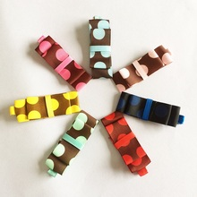 1 Pcs/lot Sweet Girls Multi-color Dot Hairpin Cute kids Girl Ribbon Hair Clips Kids Accessories