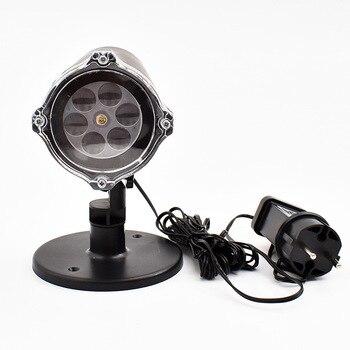 Рождественский снежинка лазерный светильник прожектор с эффектом снегопада IP65 движущийся Снег Открытый сад лазерный проектор лампа для но...