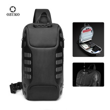 OZUKO Multifunction Crossbody Bag for Men Anti theft Shoulder Messenger Bags Male Waterproof Short Trip Chest Bag Pack New