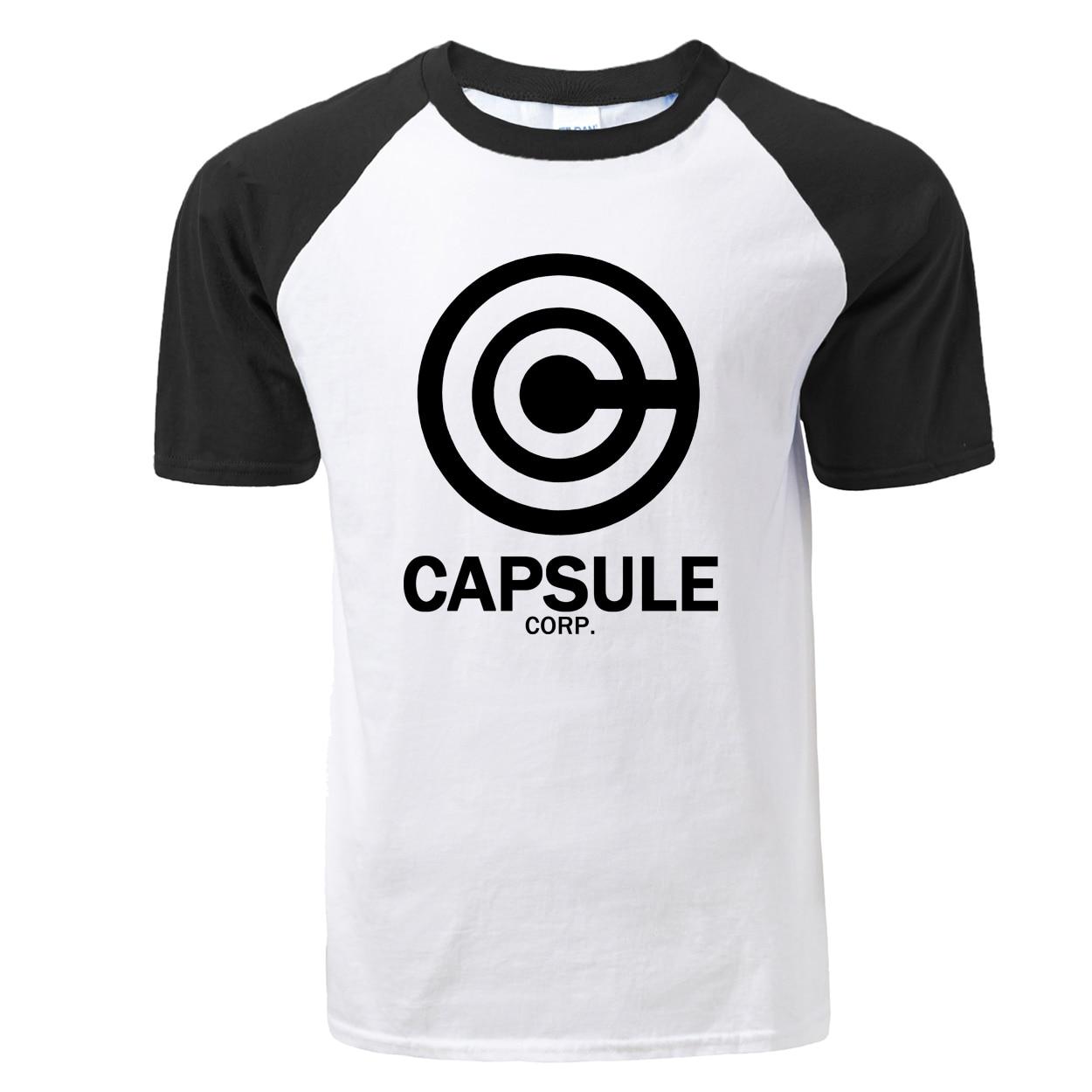 Anime Dragon Ball Z CAPSULE CORP. Tshirt 2019 Summer New Short Sleeve Raglan T Shirts Casual Cotton Men T-shirt For Anime Fans