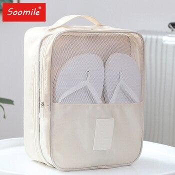 Bolsas de zapatos de viaje para maleta impermeable wown hombres amantes zapatos multicámara organizador de viaje