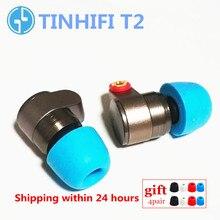 TINHIFI T2 في الأذن سماعات ديناميكية محرك HIFI باس سماعة معدنية 3.5 مللي متر سماعة مع استبدال كابل TINHiFi P2 T4 T3 T1 P1