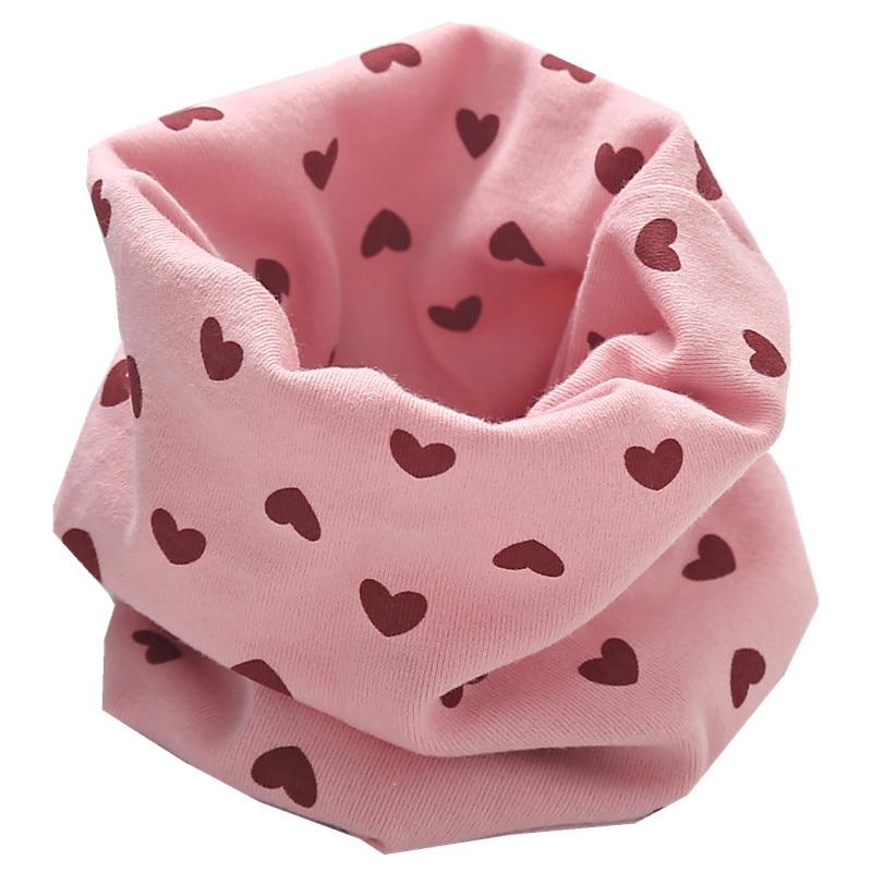 Новинка; сезон осень-зима; шарф из хлопка для девочек; Детский шарф; нагрудный шарф для мальчиков и девочек с круглым кольцом; милый детский шарф с воротником; Bufandas - Цвет: pink heart