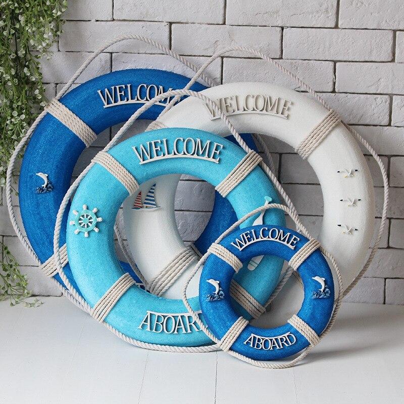 Добро пожаловать, настенный орнамент, спасательный круг, вспененный спасательный круг, лодка на стену, подвесное украшение для дома в среди...