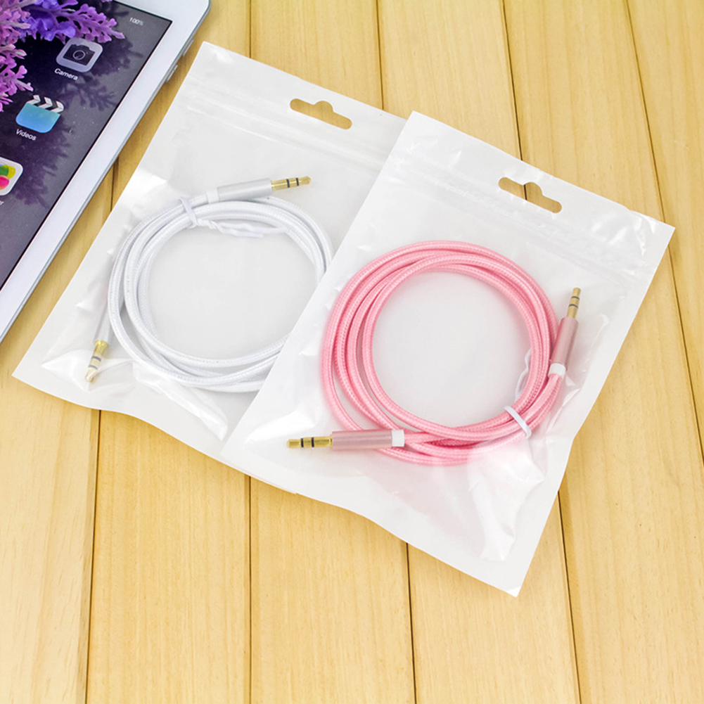 Audio Cble 3.5mm Jack To Jack 1M Male to Male Gold Plated Plug Auxiliary Cord for Xiaomi redmi for Car Headphone MP3 MP4 Speaker