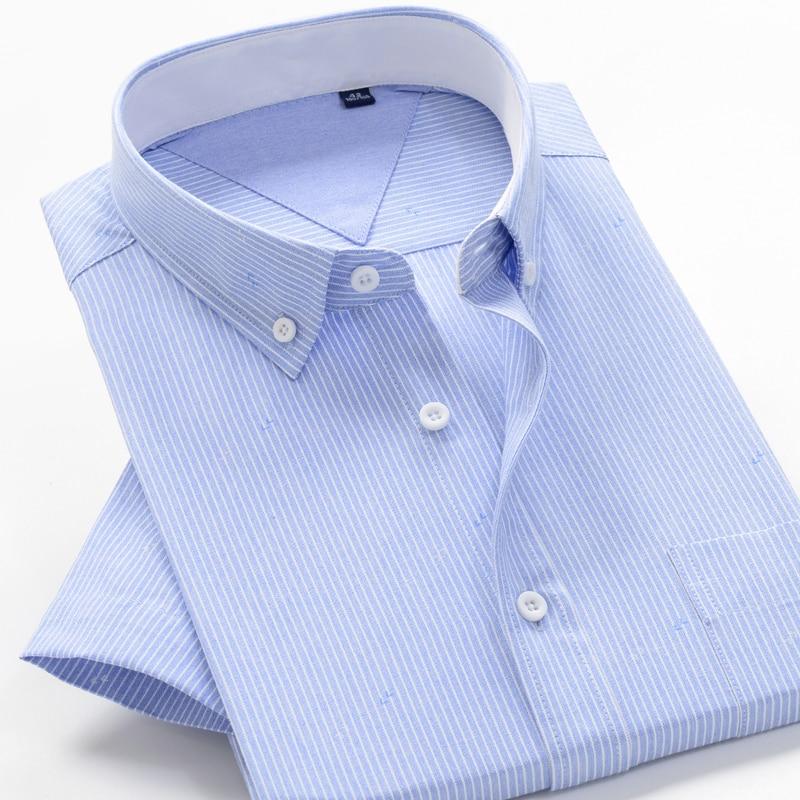 6XL 7XL 8XL 8XL 10XL big size summer striped shirt high quality comfortable cotton men's fashion casual loose short sleeve shirt 6