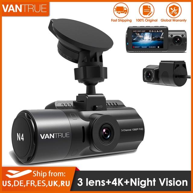 Vantrue N4 Dash Cam 4K videoregistratore per auto 3 in 1 Car DVR Dashcam telecamera posteriore con visione notturna a infrarossi GPS per camion