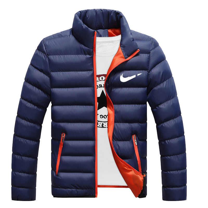 2019 nuevas chaquetas de invierno Parka hombre otoño invierno cálido prendas de vestir marca delgada para hombre Abrigos Casual cortavientos chaquetas acolchadas hombre XS-4XL